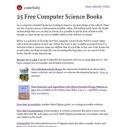 25 Free Computer Science Books