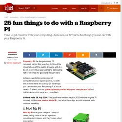 25 fun things to do with a Raspberry Pi