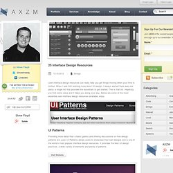 25 Interface Design Resources