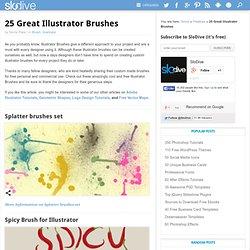 25 Top Illustrator Brushes