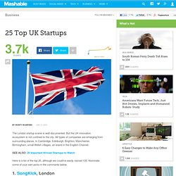 25 Top UK Startups