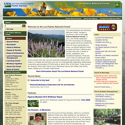 Los Padres National Forest- Home/maps/