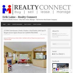 257900 Townhouse 3 Beds 3 Baths 1 Half Baths 2405 Sqr Ft Maple Grove Open House Sat 120000 PM 03000 – Erik Laine – Realty Connect
