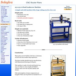 25x25~Solsylva CNC Plans