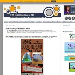 26 Book Report Ideas & TGIF