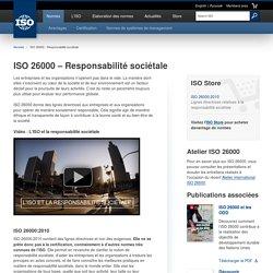 26000 – Responsabilité sociétale