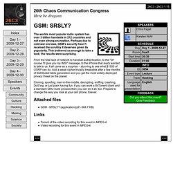 26C3: GSM: SRSLY?