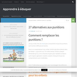 27 alternatives aux punitions