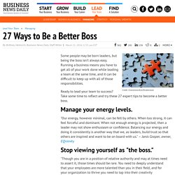 27 Ways to Be a Better Boss
