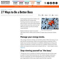27 Ways to Be a Better Boss