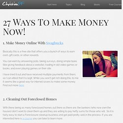 27 Ways To Make Money Now!