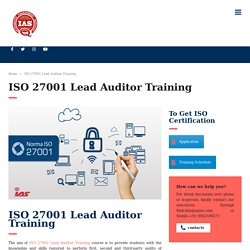 IRCA Approved ISO 27001(ISMS) Course