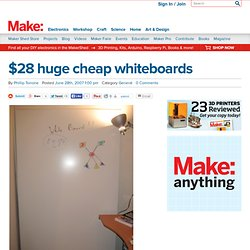 Make: Online : $28 huge cheap whiteboards