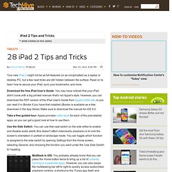 28 iPad 2 Tips and Tricks