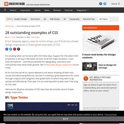 20 inspirational examples of CSS Web design Creative Bloq