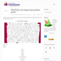 288 Fichas de lengua para primer grado