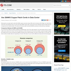 Use 28AWG Copper Patch Cords in Data Center - Blog of FS.COM