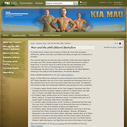 War and the 28th (Māori) Battalion / Teachers' notes / Home - Kia Mau