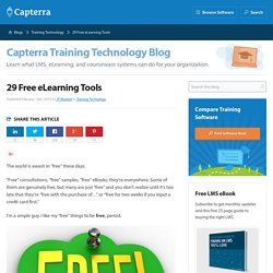 29 Free eLearning Tools