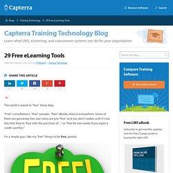 29 Free eLearning Tools