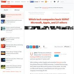 29 Tech Companies Back SOPA