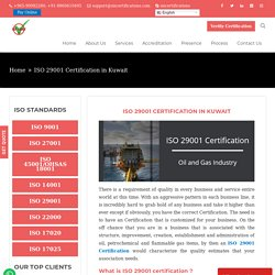 ISO 29001 Certification for Oil & Gas Industry
