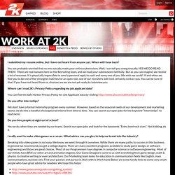 2K - Jobs FAQ