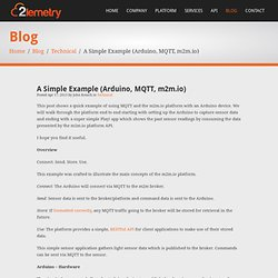 A Simple Example (Arduino, MQTT, m2m.io)