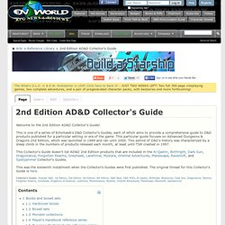 2nd Edition AD&D Collector's Guide