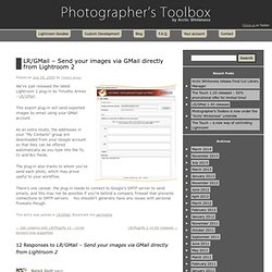 LR/GMail – Send your images via GMail directly from Lightroom 2Photographer's Toolbox | Photographer's Toolbox