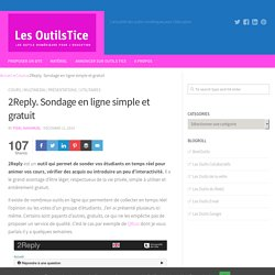 2Reply. Sondage en ligne simple et gratuit