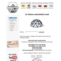2v Dome calculation tools