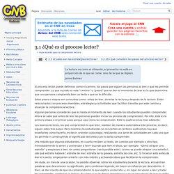 3.1 ¿Qué es el proceso lector? - CNB