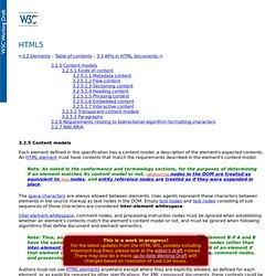3.2.5 Content models — HTML5