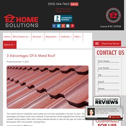 3 Advantages of a Metal Roof
