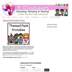 3 Dinosaurs - Printable Packs