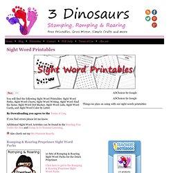 3 Dinosaurs - Sight Words