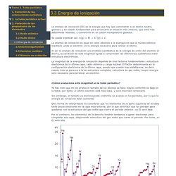3.3 Energía de ionización