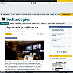 3 leçons sur le journalisme 2.0