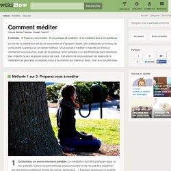 3 manières de méditer