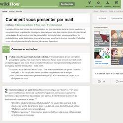 3 manières de vous présenter par mail