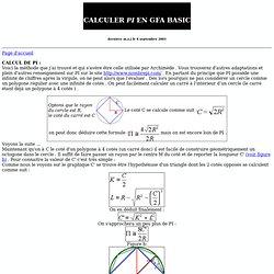 3 Méthodes pour calculer PI
