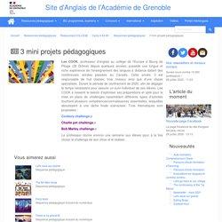 """Ac-Grenoble_3 mini projets """"challenges"""" pédagogiques par Lee COOK"""