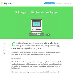 The 3 stages of creating a badass home page