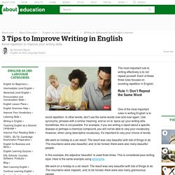 3 Tips to Improve Writing in English