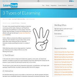 3 Types of ELearning