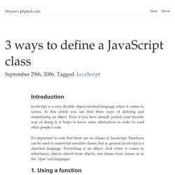 3 ways to define a JavaScript class