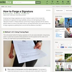 How to Forge a Signature: 5 steps