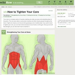 3 Ways to Tighten Your Core