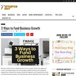 3 Ways to Fund Business Growth
